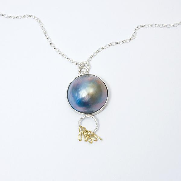 cornucopia large pearl twist necklace